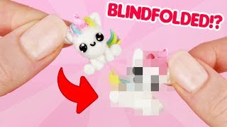 BLINDFOLDED CLAY CHALLENGE! - Making a Unicorn without looking!? #Claychallenge