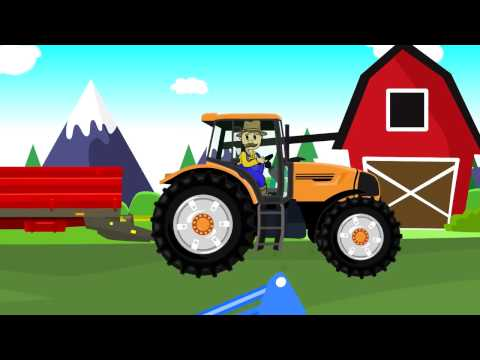 Maize - Farmers Works | Farmer And Corn | Cartoons Tractors