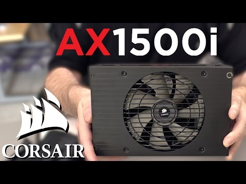 Corsair AX1500i 80 Plus Titanium PSU Unboxing & First Look!