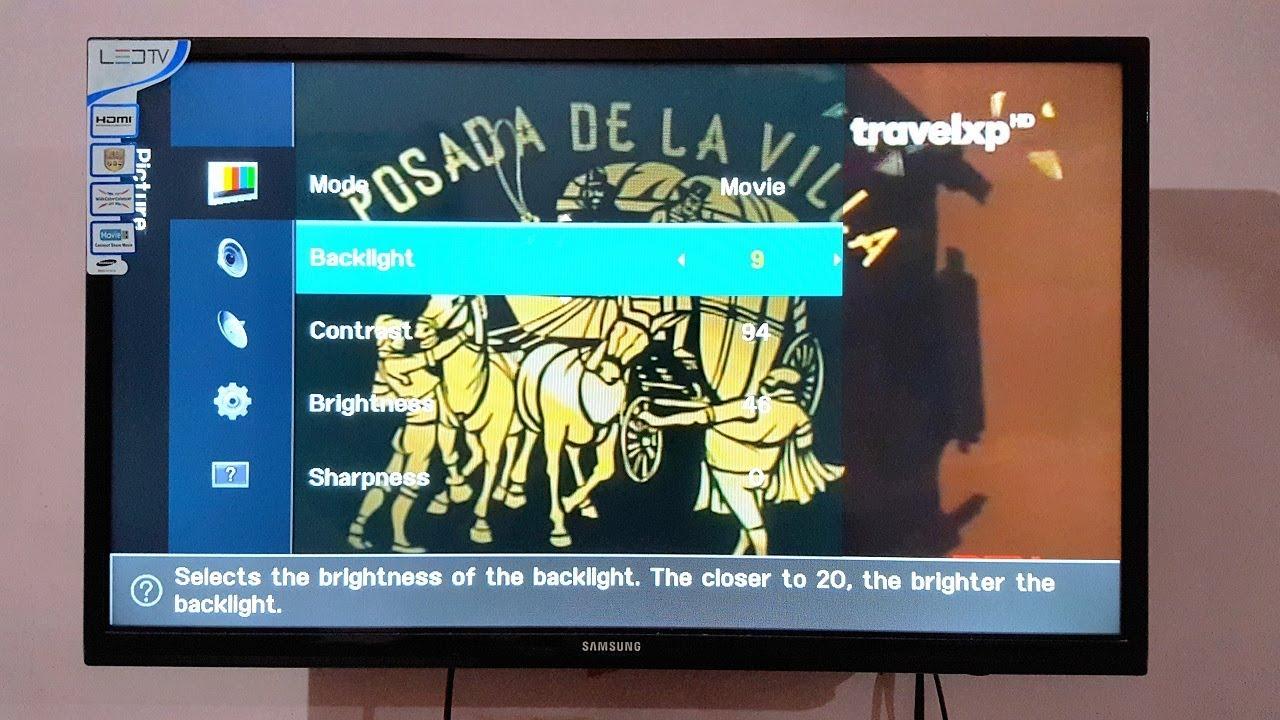 Samsung Led Tv Picture Settings Youtube Ua32fh4003