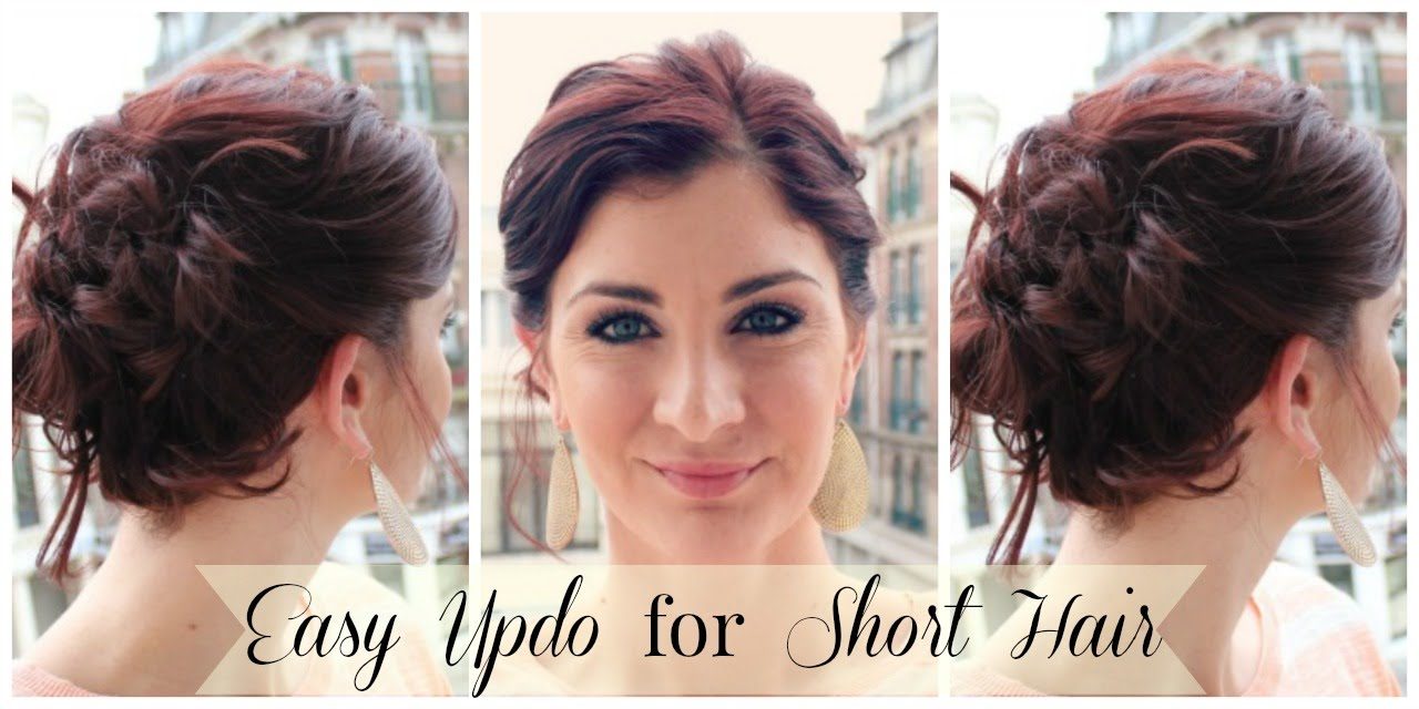 Easy Updo for Short Hair - YouTube