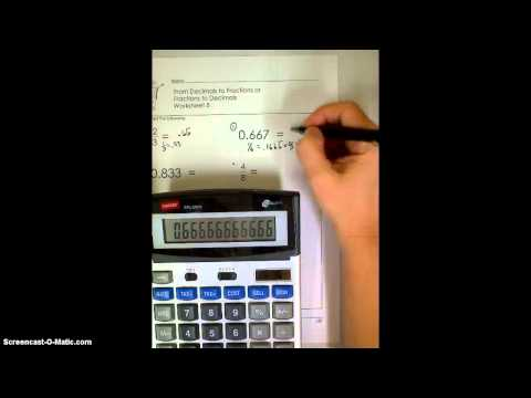 Fractions to Decimals Worksheet 5
