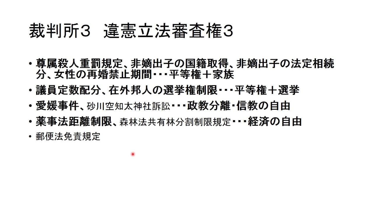 違憲 立法 審査 権 違憲審査制(憲法81条)~その本質と問題点について