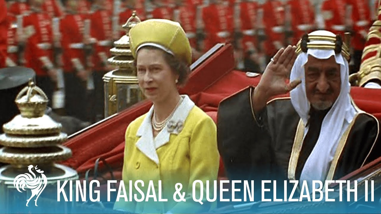 40c5569551c83 King Faisal Arrives to a Royal Welcome by Queen Elizabeth II (1967 ...