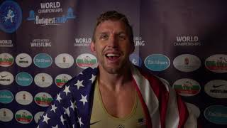 2018 world champion, Kyle DAKE USA