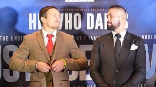 Oleksandr Usyk vs. Tony Bellew INTENSE & LONG FACE OFF | Matchroom Boxing