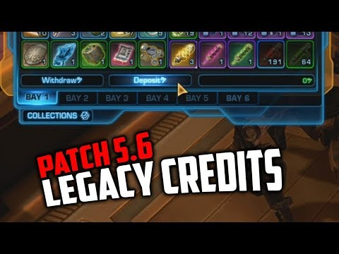 SWTOR 5.6 Legacy Credits - How they work and F2P Limitations