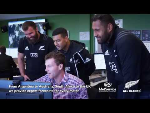 All Blacks MetService Visit 2018