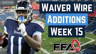 Top Waiver Wire Targets - Week 15 - 2019 Fantasy Football Advice
