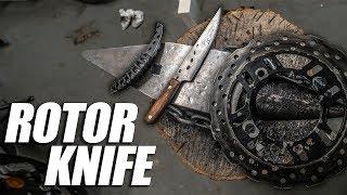 Forging Knives from a Motorcycle Brake Rotor