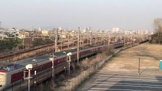 【JR西日本】381系  特急  やくも  出雲市行き  北長瀬駅発車