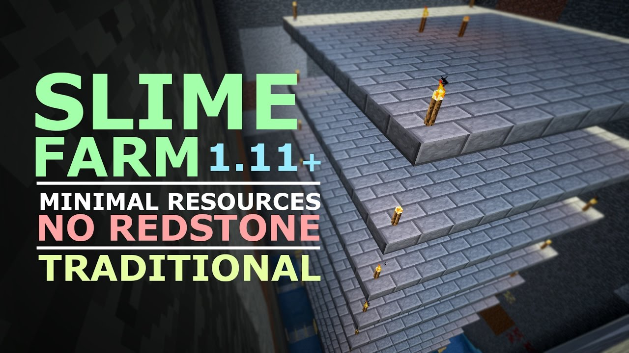 Slime Farm In 111 Minecraft Minimal Resources No Redstone