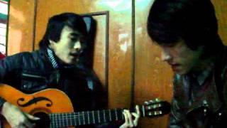 cung dan buon - guitar cover ( Ti Heu feat Lam Vu )