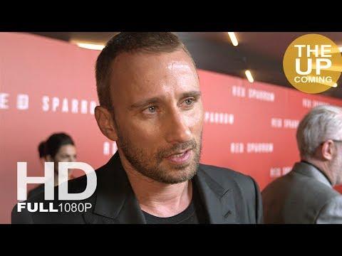 Matthias Schoenaerts interview at Red Sparrow premiere in London
