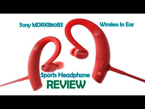 Sports Headphone Blue Wireless Sony MDRXB80BS//L Premium In-Ear