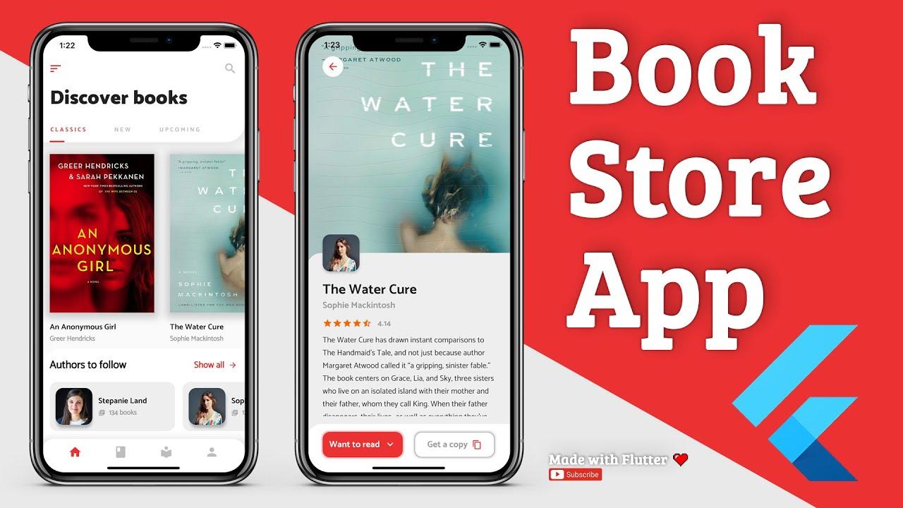 Flutter App UI - Bookstore - Speed Code