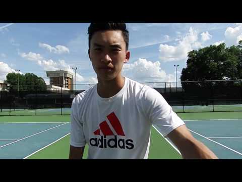on-court post-match interview with Nathan Wang after loss to Peter Hartman 6-4 6-2