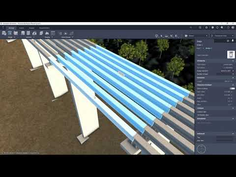 InfraWorks 2022 What's New Video Complex 3D Bridge Girders