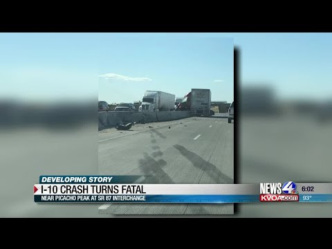 Fatal crash shuts down parts of I-10 at Picacho Peak - YouTube