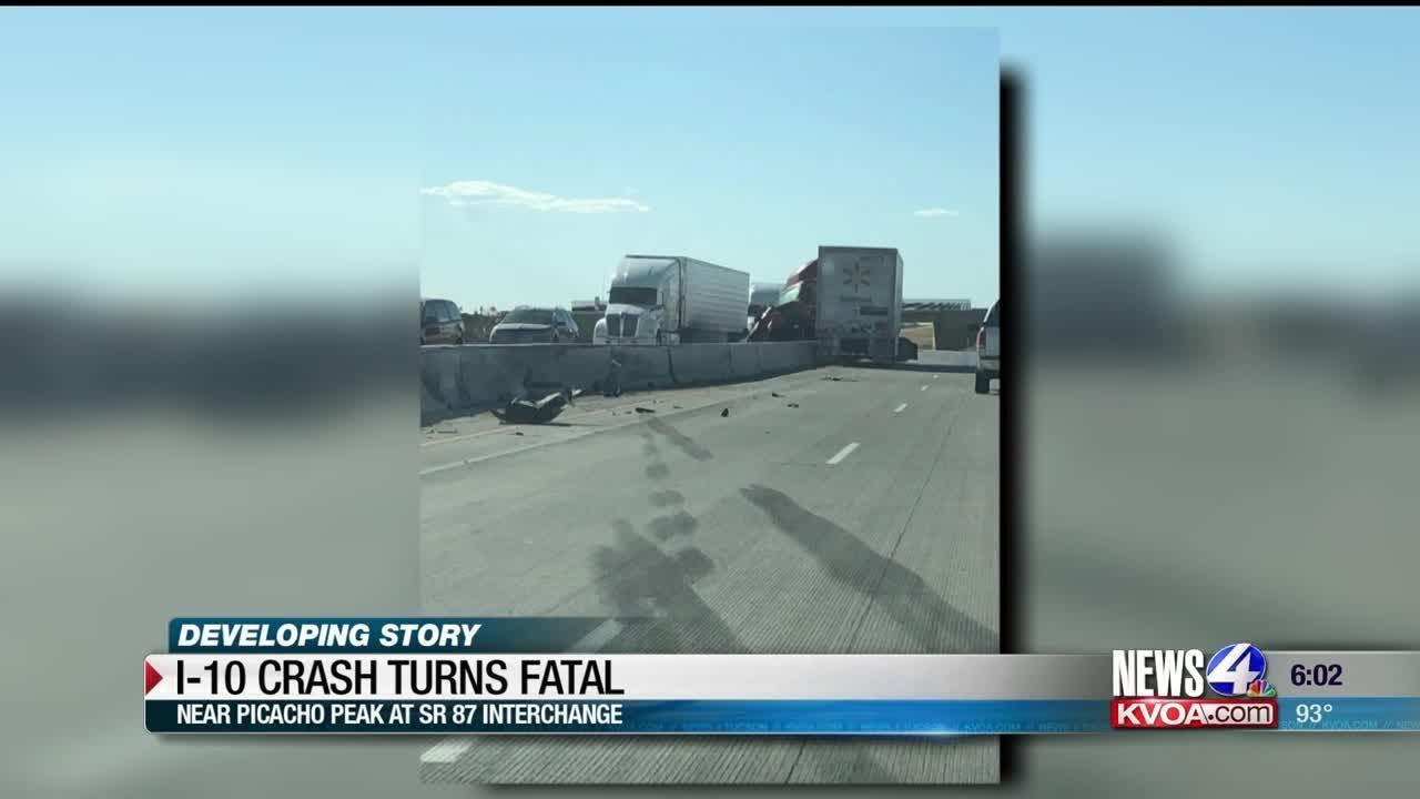Fatal crash shuts down parts of I-10 at Picacho Peak