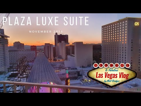 Plaza Hotel & Casino Las Vegas (Remodelled North Tower Luxe Suite 1812) Room Tour 23rd November 2019