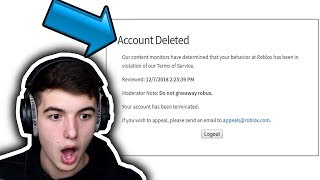 if a roblox youtuber gives away robux, they get banned... (here's why)