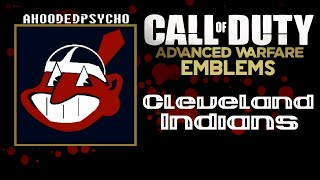 Cleveland Indians MLB Baseball - COD Advanced Warfare Emblem Tutorial (CODAW)