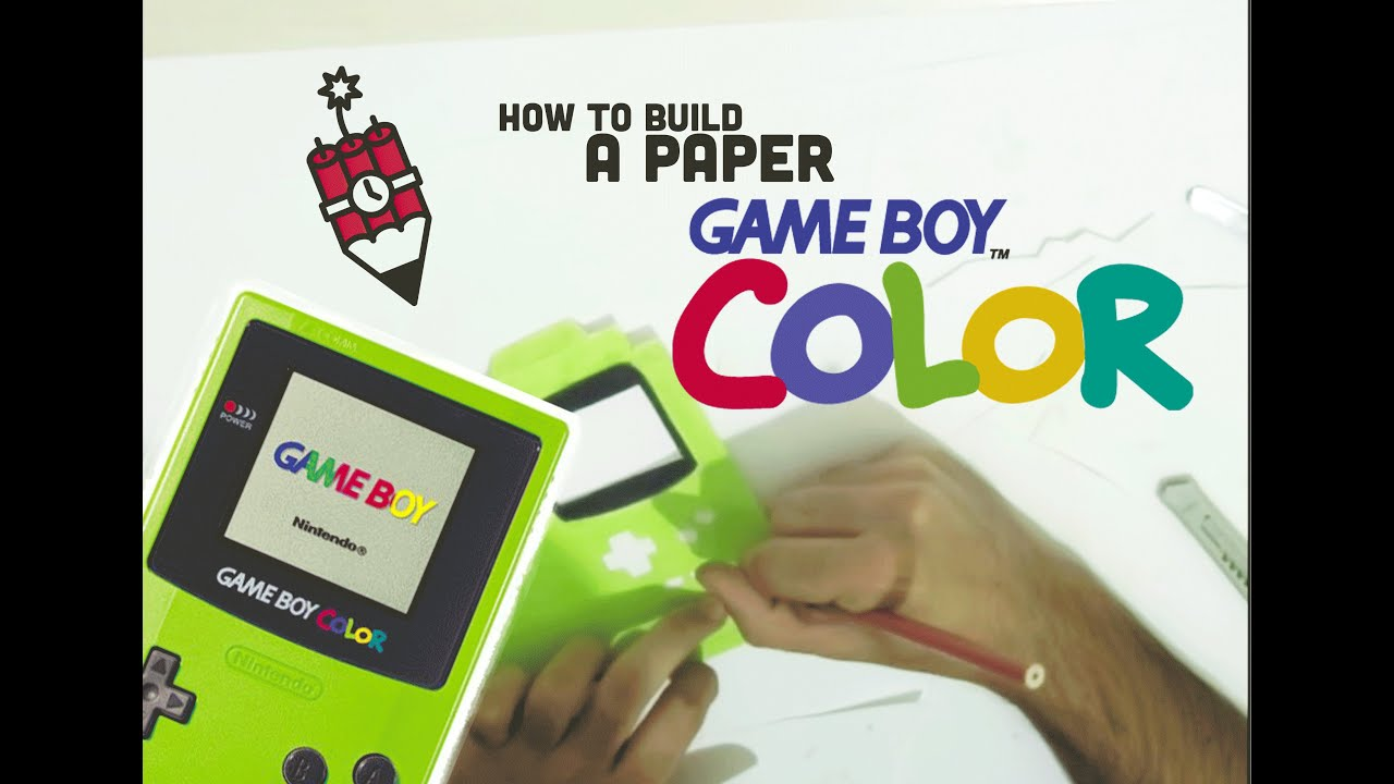 how to make a paper game boy color case for smartphone youtube