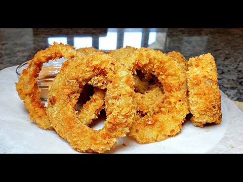 The Crunchiest Onion Rings I've Ever Made | Extra Crunchy Onion Rings Recipe