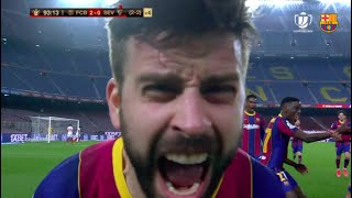 😱 🕙 FULL LAST 4 MINUTES OF BARÇA-SEVILLA + GOAL CELEBRATION 🔥
