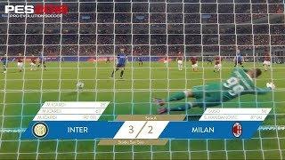 Inter-Milan 3-2 | Mauro Icardi's hat-trick | PES 2018