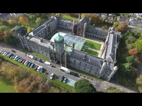 National University of Ireland Galway Aerial Footage 4K Video (2160p)