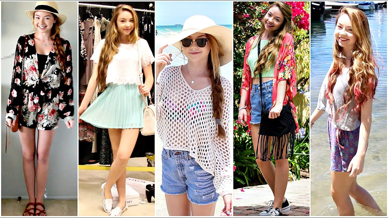 Outfits of the Week Summer Break! - YouTube