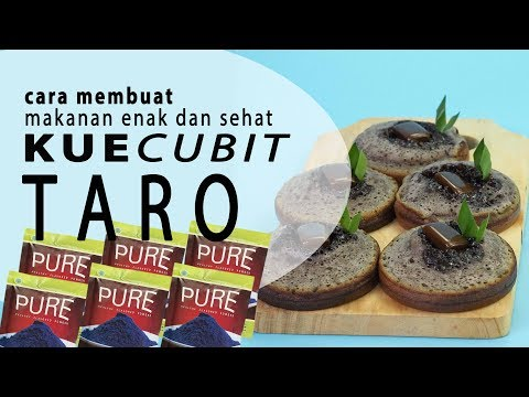 cara-membuat-makanan-enak-dan-sehat-:pure-kue-cubit-taro