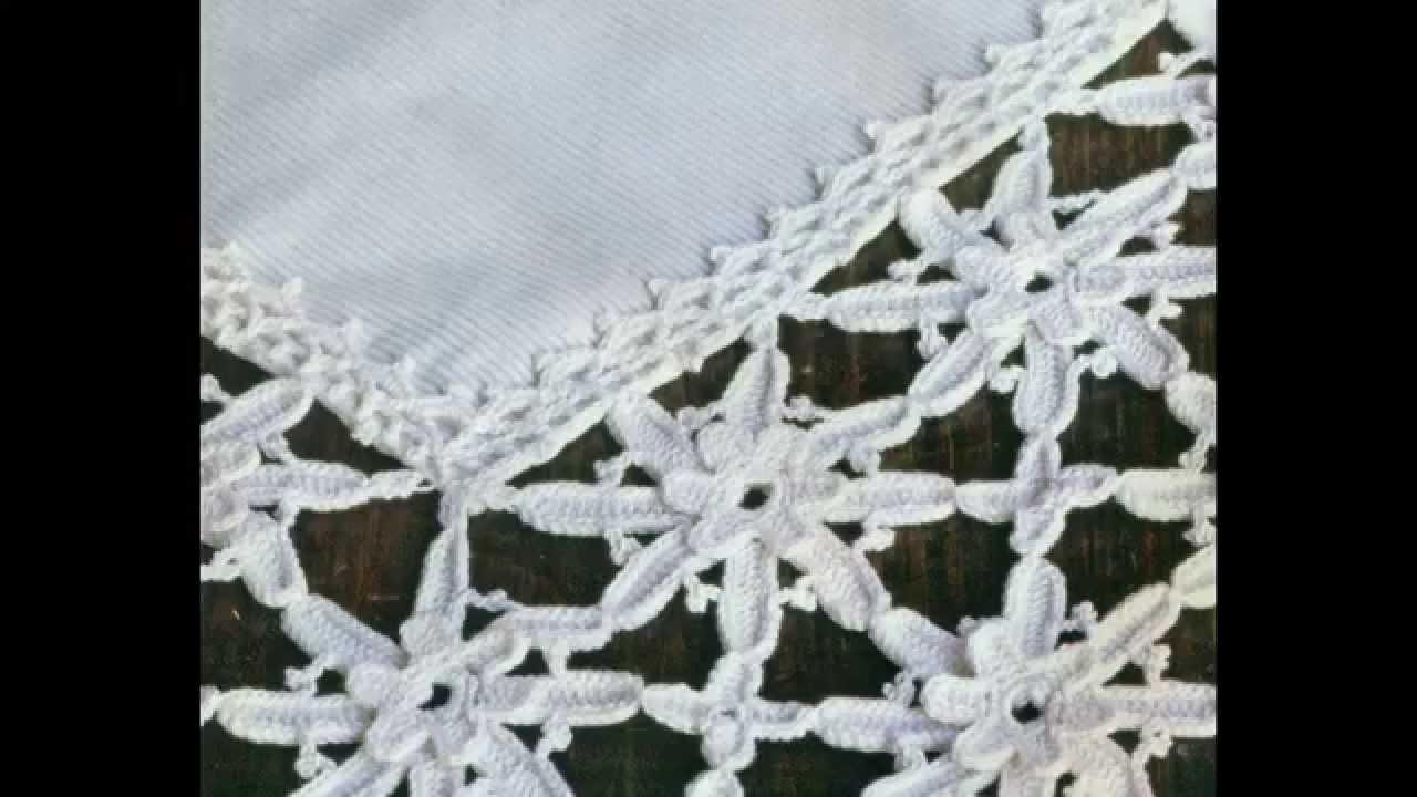 Patrón Para mantel con Flores a Crochet - YouTube