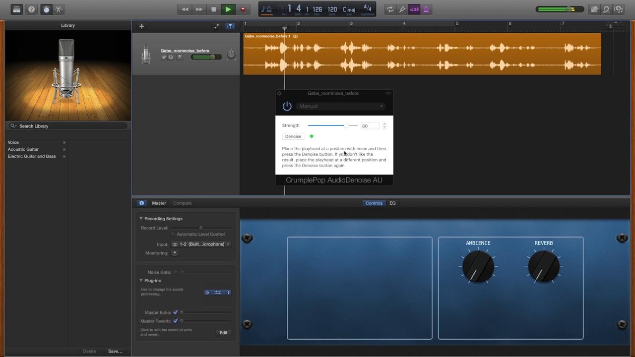 Remove Audio Noise in GarageBand