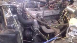 первый запуск 406 мотора на уазе