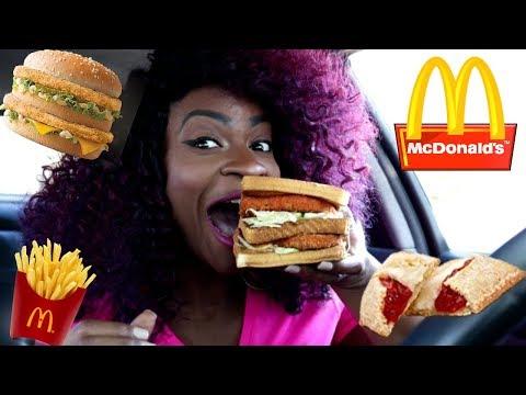McDonalds Secret Menu! + New Strawberry & Creme Pie! Eat with Me!
