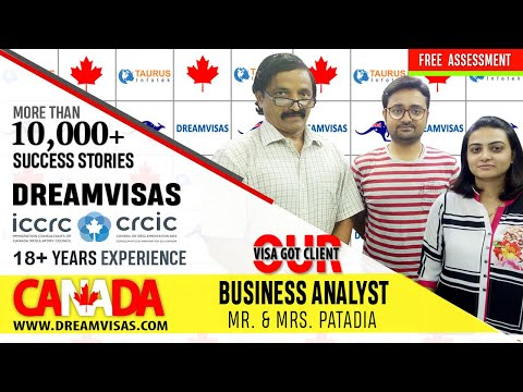 Mr. & Mrs. Patadia. Our Latest Canadian PR Visa Got Business Analyst  Client With Manoj Palwe.
