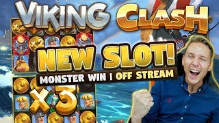 Viking Clash BIG WIN! NEW GAME - 500x plus on 10 euro bet - Filmed with phone (Casino slots)