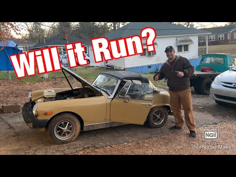 1976 MG Midget Sitting For 13 Years: Will It Run?