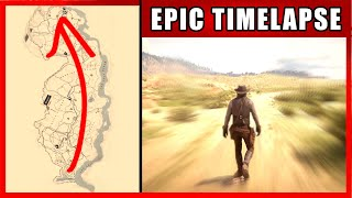 Walk Across The Map Timelapse | Red Dead Redemption 2 (New Austin)