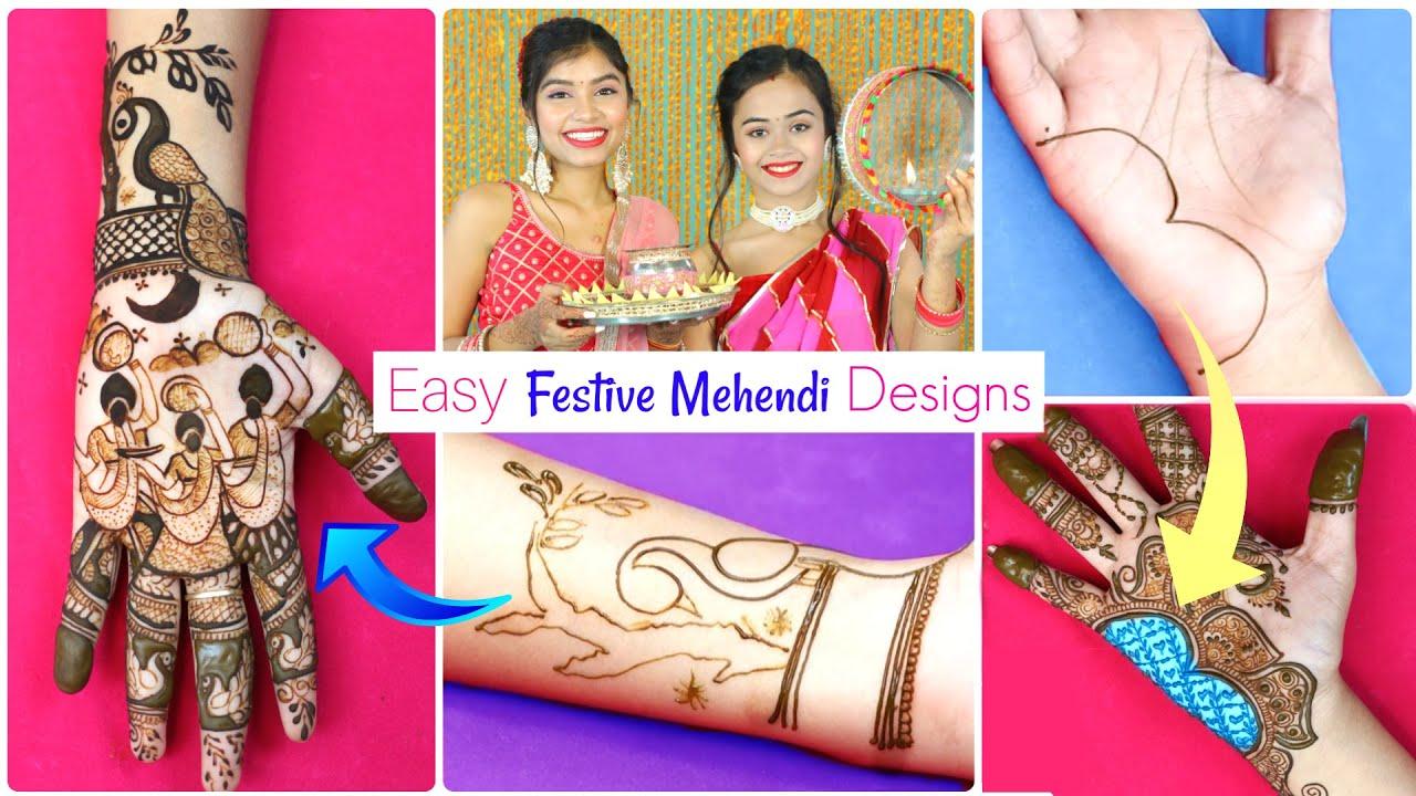 FESTIVAL Special Mehendi Designs | Step By Step Tutorial | DIYQueen