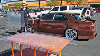 making-a-custom-lexan-power-window-in-a-parking-lot