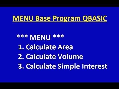 11 Tutorial On SELECT CASE Statement Menu Base Program (by Technical School)