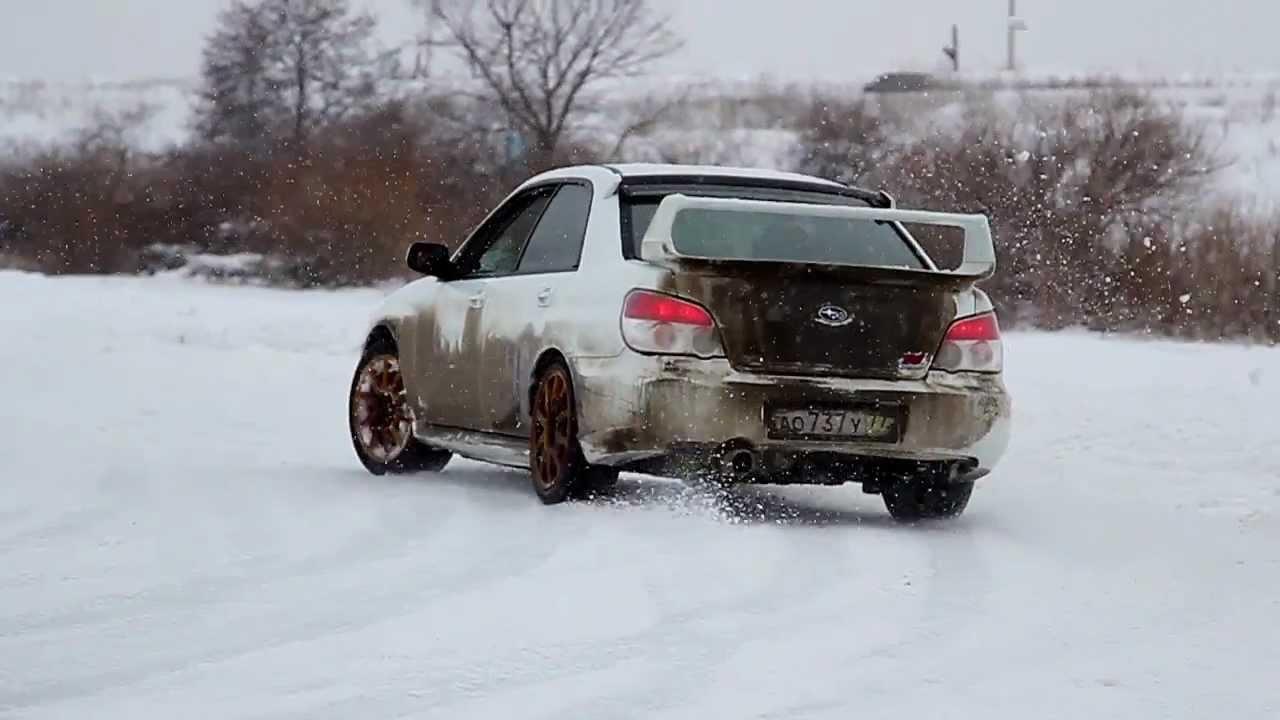 Subaru Wrx Sti Snow Fun Youtube