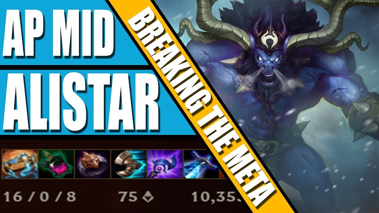 BREAKING THE META: AP MID ALISTAR - PERFECT 16-0 GAME LEAGUE OF LEGENDS