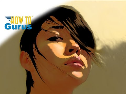 How To Graphic Novel Style Art Portrait in Adobe Photoshop Elements 15 14 13 12 11 Tutorial