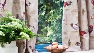 Annie Sloan - Fabric Tutorial No.2 - a simple curtain