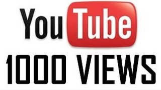 How To Get Free Youtube 1000 Views In A Day *WORKS*